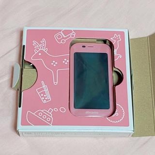 エヌティティドコモ(NTTdocomo)の新品 docomo ドコモ キッズケータイSH-03M セット ピンク ①(携帯電話本体)
