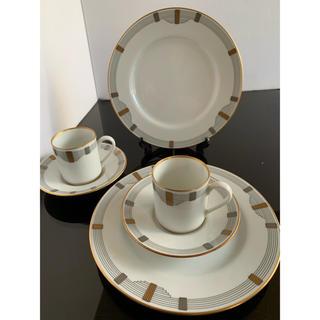 クリスチャンディオール(Christian Dior)の新品◆クリスチャン ディオール GODRON デミタスカップ&ソーサー&プレート(食器)