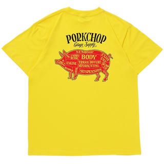 NEIGHBORHOOD - ポークチョップ PORK CHOP イエロー Tシャツ porkchop