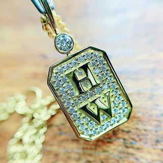 ハリーウィンストン(HARRY WINSTON)の★ハリーウィンストン★付属品すべてあり✨HWロゴ K18ダイヤモンドネックレス(ネックレス)