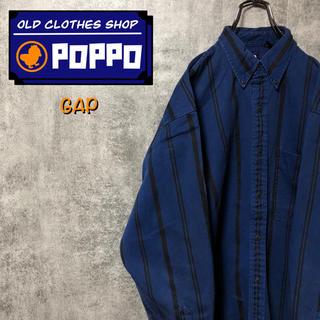 GAP - オールドギャップGAP☆ボタンダウンワークストライプシャツ 90s