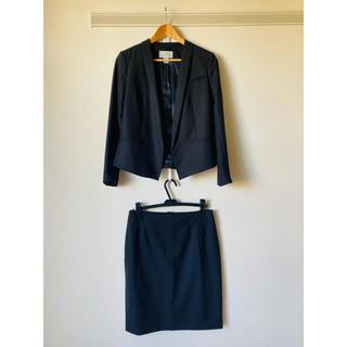エイチアンドエム(H&M)のH&M ブラック スカートスーツセット Lサイズ(セット/コーデ)