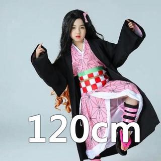 鬼滅の刃 コスプレ衣装 きめつの刃 竈門 禰豆子 子供服 即購入可 120cm