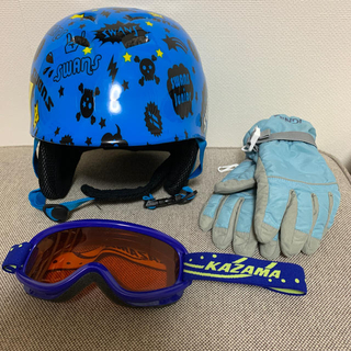スワンズ(SWANS)のスワンズ ヘルメット ゴーグル グローブ 子供 スキー用 スノーボード用(アクセサリー)