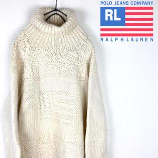 Ralph Lauren - ポロジーンズ ラルフローレン セーター  ニット タートルネック 白 新品