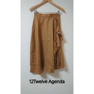 トゥエルブアジェンダ(12Twelve Agenda)のタグ付き新品! アシンメトリーフレアスカート 7,700円(ロングスカート)