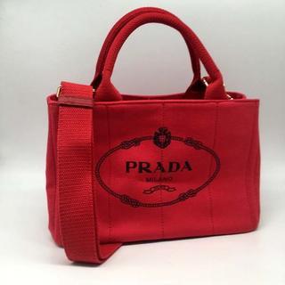 PRADA - 送料無料 ショルダー付きハンドバッグ レッドカラーPRADA