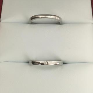 Cartier - カルティエ バレリーナ ペア リング Pt950 2.0mm 7.3g