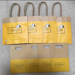 ロクシタン(L'OCCITANE)のロクシタン スヌーピー手提げ袋と小分け袋セット(ショップ袋)