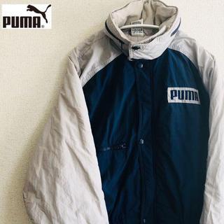 プーマ(PUMA)の《プーマ》ロング丈コート マウンテンパーカー 刺繍ロゴ 古着 メンズ(マウンテンパーカー)