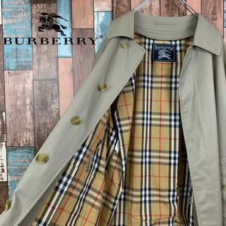 BURBERRY - 【C-TK83】正規品 バーバリープローサム ノバチェック ステンカラーコート