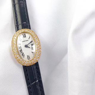 Cartier - 【仕上済】カルティエ ミニ ベニュワール K18 ダイヤ レディース 時計