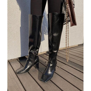 Ameri VINTAGE - Ameri VINTAGE ECO LEATHER LONG BOOTS ❤︎