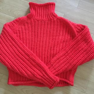 H&M - H&M チャンキーニット ハイネックセーター XSサイズ