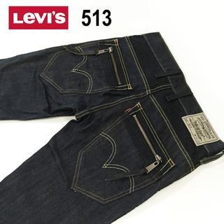 Levi's - Levi's513 SKINNY LEG ブラックデニムパンツW30約81cm