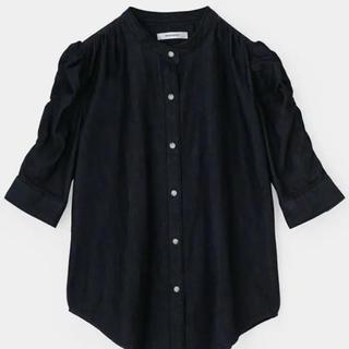moussy - moussy ギャザースリーブデニムシャツ