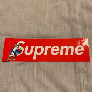 シュプリーム(Supreme)のSupreme ステッカー 1枚 Smurf box logo シュプリーム(その他)