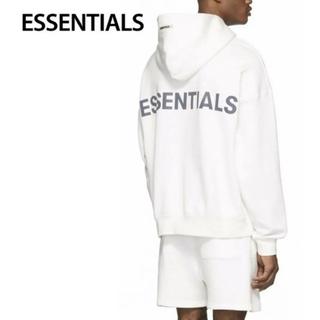 FEAR OF GOD - 重盛さとみ 着用モデル FOG essentials パーカー 白 サイズM