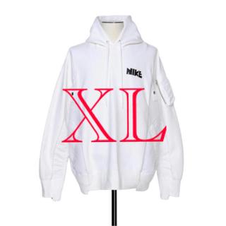 NIKE - Nike sacai Hoodie White XL