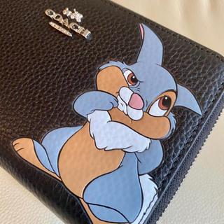 COACH - 在庫セール♡新品 コーチxディズニー限定コラボ ブラック 二つ折り財布
