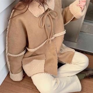 dholic - u dresser リバーシブルボアジャケット