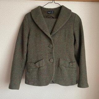 アニエスベー(agnes b.)の美品♪ アニエスベー テーラードジャケット セットアップ⭐︎(テーラードジャケット)