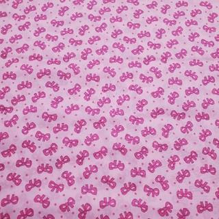 ローラアシュレイ(LAURA ASHLEY)のローラアシュレイ リボン ピンク 生地 はぎれ カットクロス pink (生地/糸)