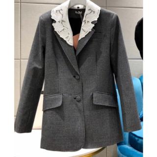 ミュウミュウ(miumiu)の【miu miu】千鳥格子のシングルブレストジャケット(テーラードジャケット)