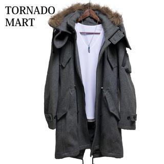 TORNADO MART - TORNADO MART モッズコート グレー メルトンコート ウールコート