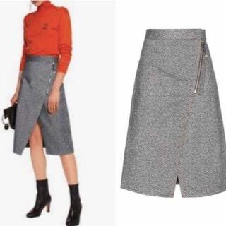 ドゥロワー(Drawer)のacne studios アクネ 台型 コットン ラップ スカート 32(ひざ丈スカート)