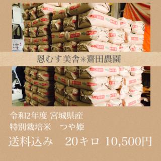 新米✼つやと香り✼宮城県産特別栽培米つや姫20キロ(米/穀物)