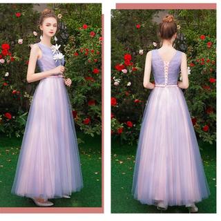 ゲストドレス 美品 サイズS(ロングドレス)