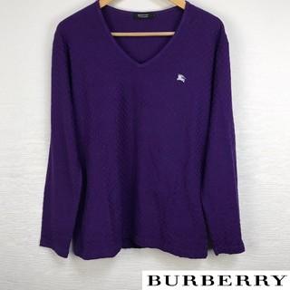 バーバリーブラックレーベル(BURBERRY BLACK LABEL)の美品 BURBERRY BLACK LABEL 長袖カットソー ブロックチェック(Tシャツ/カットソー(七分/長袖))