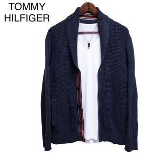 トミーヒルフィガー(TOMMY HILFIGER)のTOMMY HILFIGER ニットカーディガン  ショールカラーカーディガン(カーディガン)