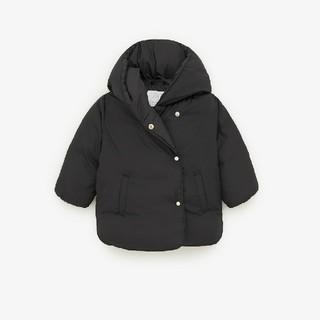 ザラキッズ(ZARA KIDS)のZARA クマ耳ダウンコート 74㎝ ブラック(ジャケット/コート)