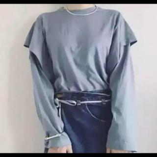 jonnlynx - fumika uchida ダブルスリーブ カットソー ブルー サイズS