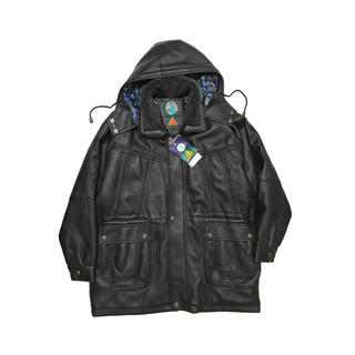 STONE ISLAND - DEAD STOCK Hooded Faux Leather Coat