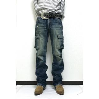 HYSTERIC GLAMOUR - THEE HYSTERIC XXX Dmaged Cargo Denim PT