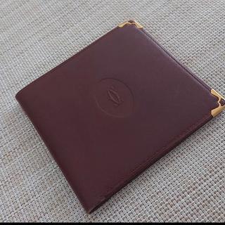 カルティエ(Cartier)のCartier 二つ折り財布 カルティエ ワインレッド(折り財布)