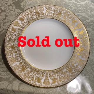 ウェッジウッド(WEDGWOOD)の希少 ウェッジウッド フロレンティーン ゴールド 20.5 緑壺 未使用品(食器)
