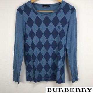バーバリーブラックレーベル(BURBERRY BLACK LABEL)の美品 BURBERRY BLACK LABEL 長袖Tシャツ アーガイル(Tシャツ/カットソー(七分/長袖))