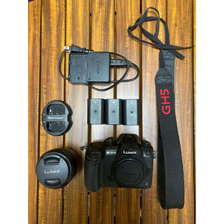 Panasonic - GH5ボディ+キットレンズ+V-log L+バッテリー3個+α