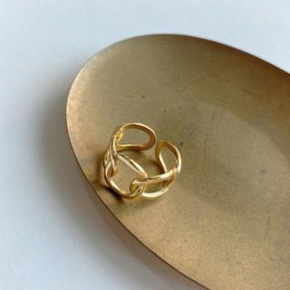 シールームリン(SeaRoomlynn)のシルバー925 スターリングシルバー ゴールドリング R0101(リング(指輪))
