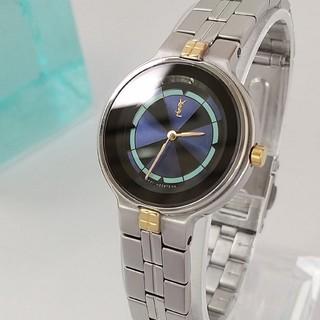Saint Laurent - 綺麗 サンローラン 新品仕上げ ネイビー レディース腕時計ウォッチ 着物 極美品