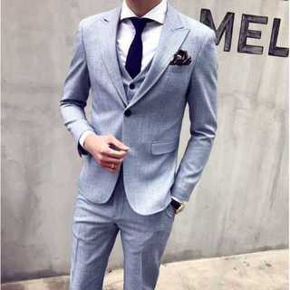 定番 メンズスーツ 披露宴 ビジネス zb454(セットアップ)