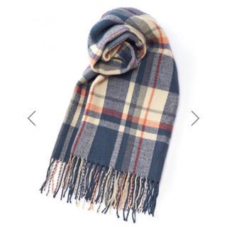 グレイル(GRL)のGRL タータンチェックストール ブルー マフラー 韓国ファッション 秋 冬(マフラー/ショール)