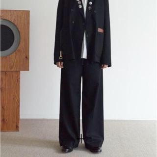 SUNSEA - SUNSEA N.M Thickened Wide Pants/Black