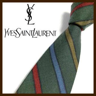 Yves Saint Laurent Beaute - イヴ・サンローラン ウール✖️シルクネクタイ 日本製 人気ブランド 季節トレンド