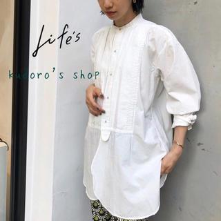 TODAYFUL - TODAYFUL■新品未使用■Tuck Dress Shirts WHT
