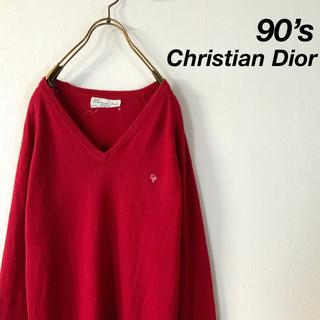 Christian Dior - 90's Christian Dior ワンポイントロゴ ハイゲージニット